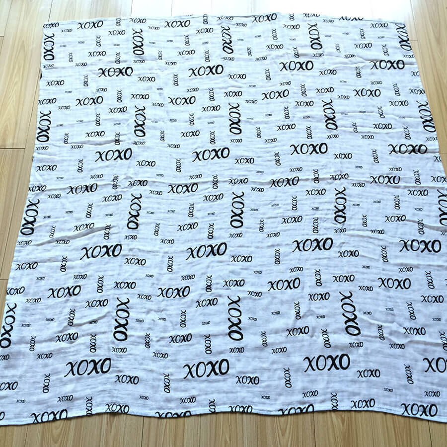 Komo Bebe Chic Muslin Swaddle Blanket - xoxo design